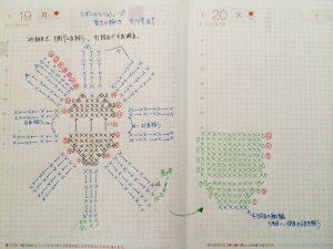 ルームシューズ編み図