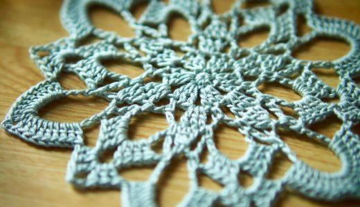 レース編み|#100ドイリー 25枚目の編み図