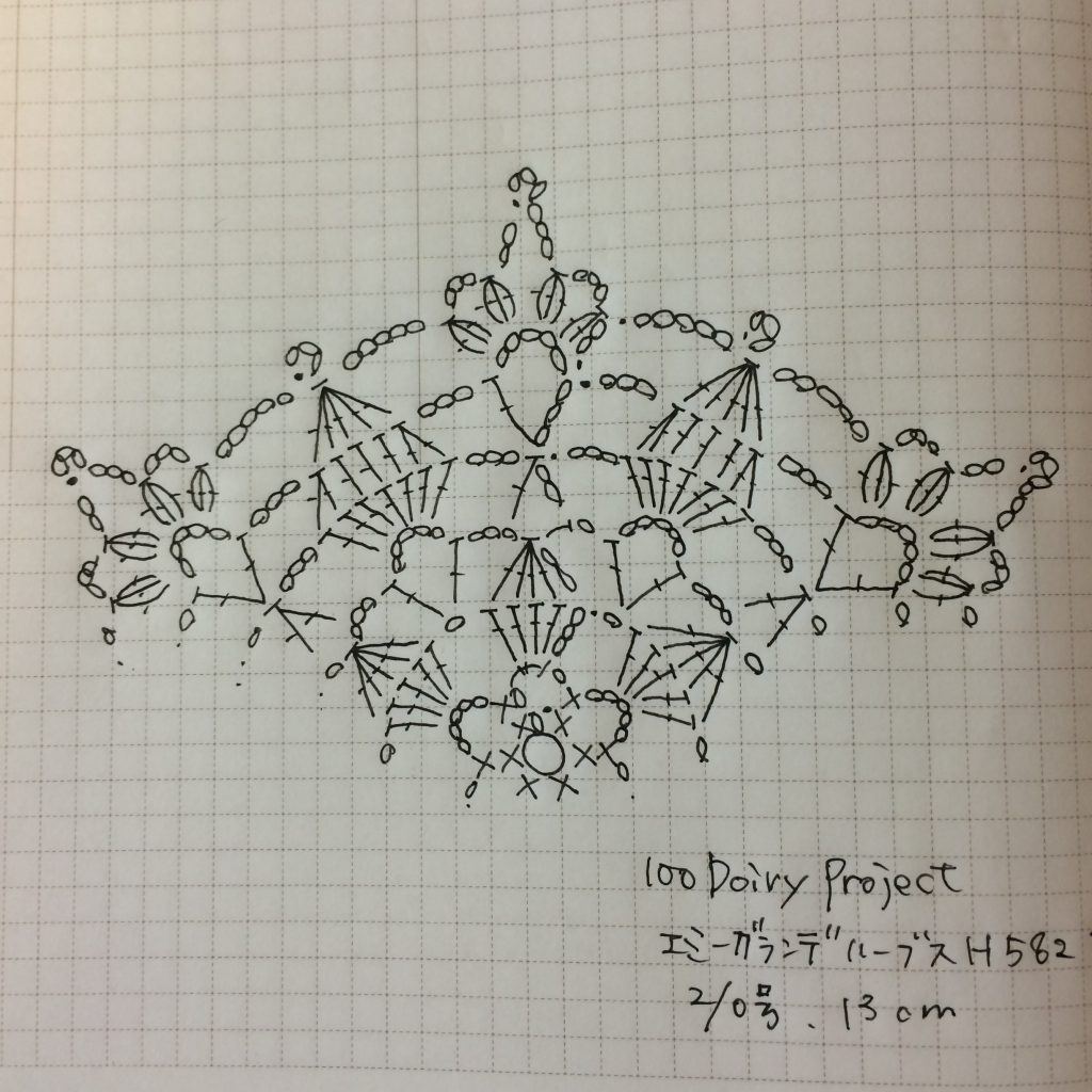 #100ドイリー 56枚目編み図