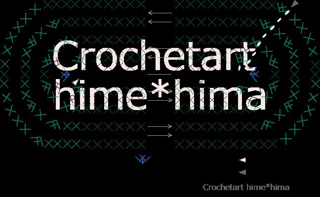細編みの楕円形バック底の編み図
