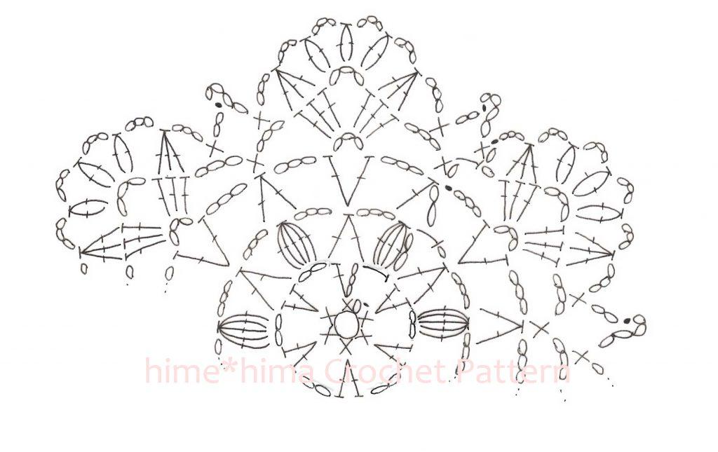 #100ドイリー 14枚目の編み図