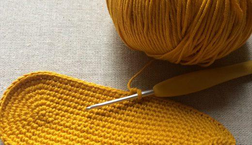 編み図を作る|細編みの楕円形(編み図を見ないでも簡単に編めるバッグ底)