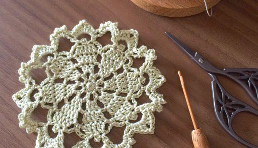 レース編み|初心者さんにオススメ簡単小さなドイリー(#100ドイリー 93枚目の編み図)