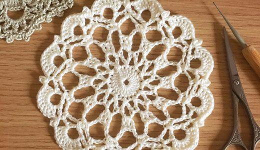 レース編み|長編み交差編み目模様の#100ドイリー 60枚目の編み図