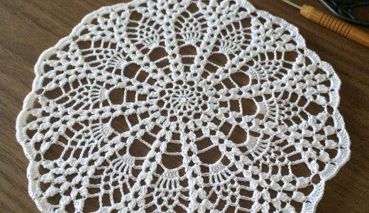 レース編み|パイナップルレース #100ドイリー 96枚目の編み図