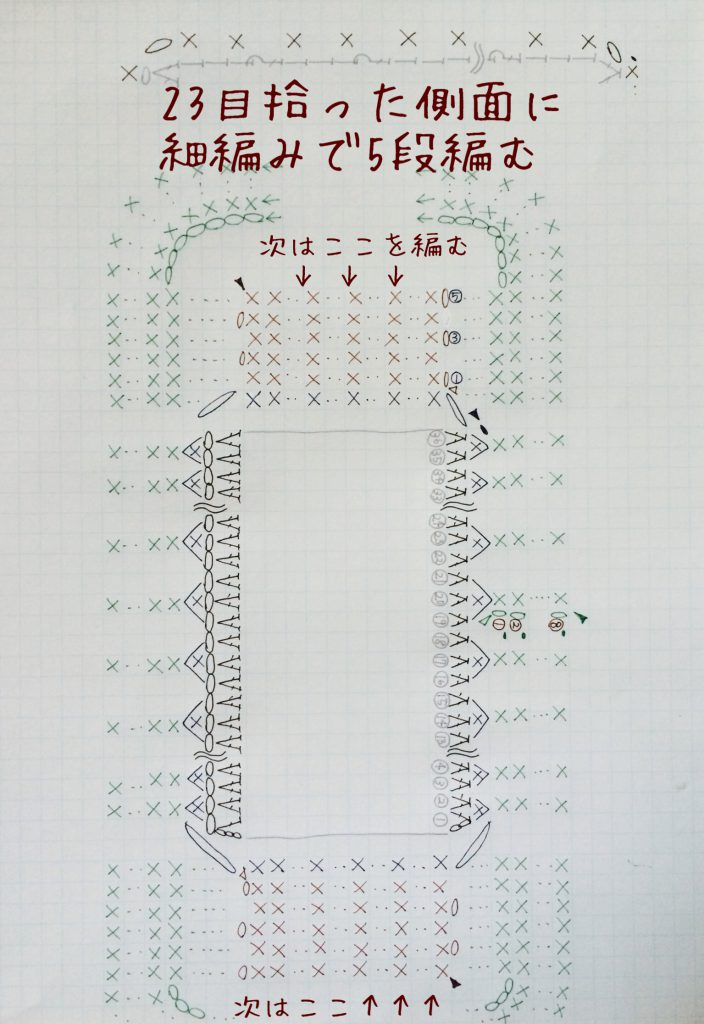 持ち手編み図B