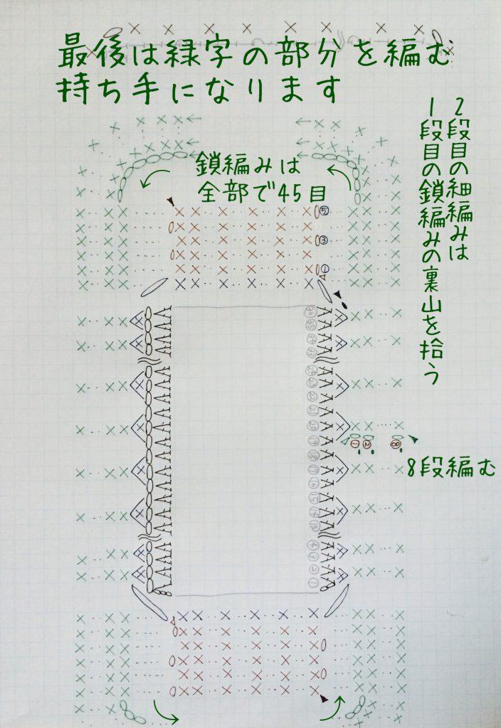 持ち手編み図C