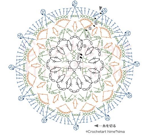 #100ドイリー 86枚目編み図