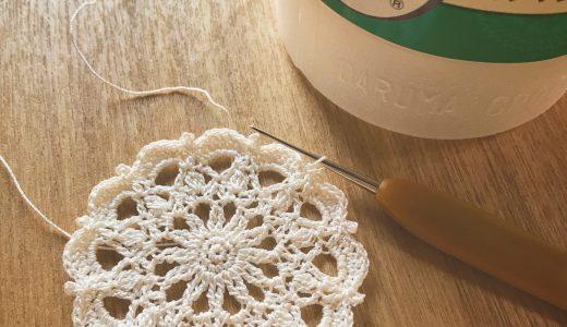 レース編み・刺繍糸でも編める|#100ドイリー 86枚目の編み図