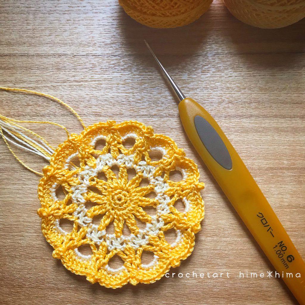 刺繍糸で編む#100ドイリー 86枚目