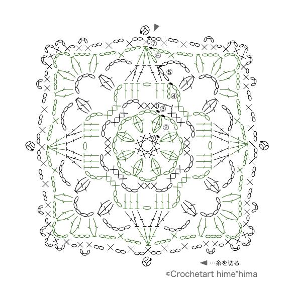 #100ドイリー 68枚目の編み図