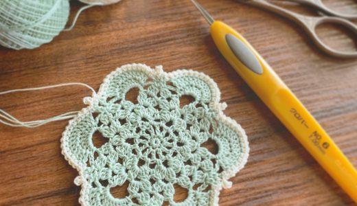 タティングレース糸で編む#100ドイリー 2枚目