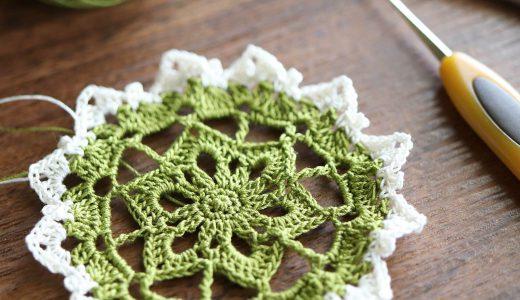 レース編み|金票レース糸で編む#100ドイリー 89枚目の編み図
