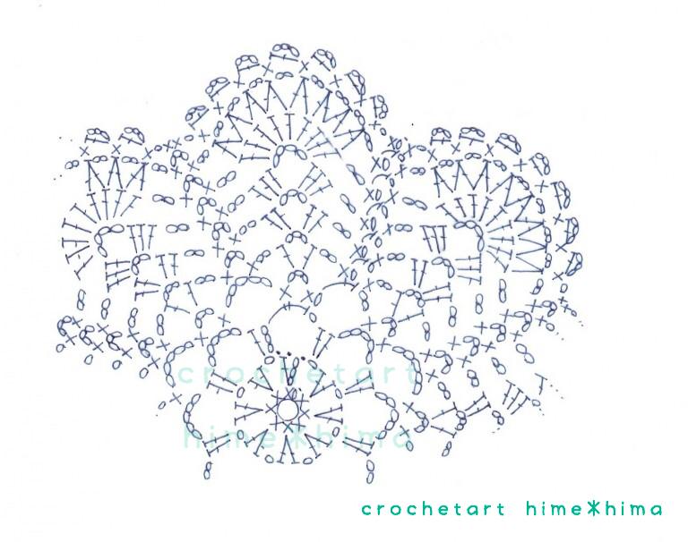 #100ドイリー 97枚目の編み図