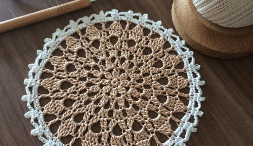 レース編み|簡単|#100ドイリー 90枚目の編み図