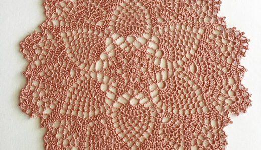 レース編み|パイナップル編み|#100ドイリー 82枚目の編み図