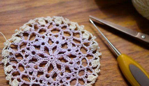 レース編み|もっと早く簡単に編める 縁編みの違う#100ドイリー 92枚目の編み図