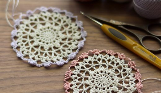 レース編み|20分で編めるシリーズ|簡単で可愛いドイリーno.2
