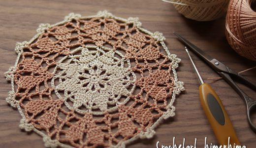 レース編み|ハート模様のドイリー