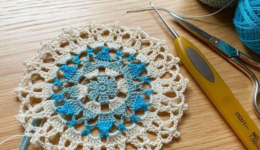 レース編み|#100ドイリー 74枚目の編み図